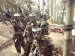Paintball lounge party